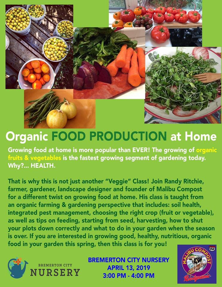 Organic Food Production At Home, 2019